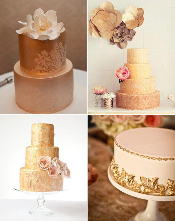 Milk & Honey wedding theme: cakes