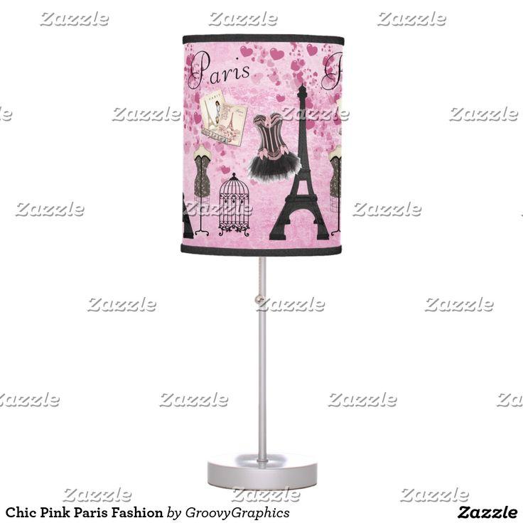 Chic Pink Paris Fashion Desk Lamp