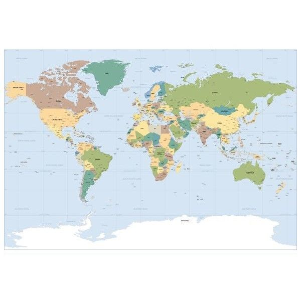 Fotomural Worldmap