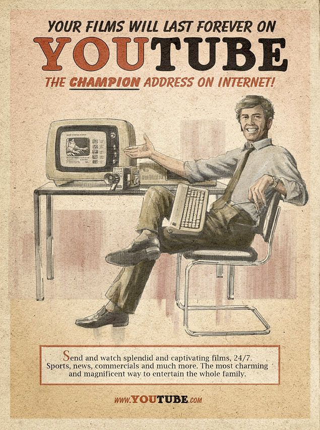Fake Vintage Tech Posters: YouTube