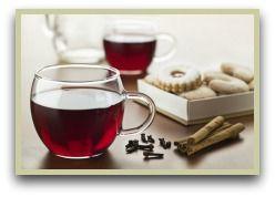 Clove Tea    Ingredients: (makes 2 cups)    2 cups of water  1 teaspoon whole cloves  ½ teaspoon grated nutmeg  ½ teaspoon ground cinnamon  Few drops of lemon juice  Agave nectar or honey (optional)