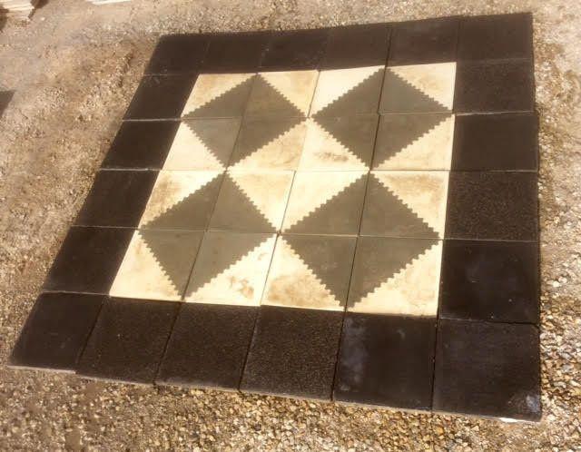Descripci n alfombra de baldosas hidr ulicas recuperadas - Dimensiones baldosas ...
