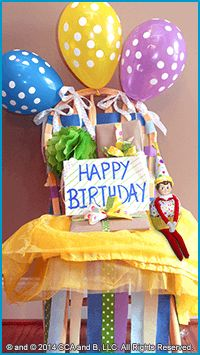 Six Super Ways to Build a Birthday Chair | The Elf on the Shelf