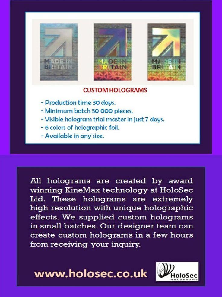 #Holosec #hologram #holographic #customhologram #UK Visit Now: http://www.holosec.co.uk/