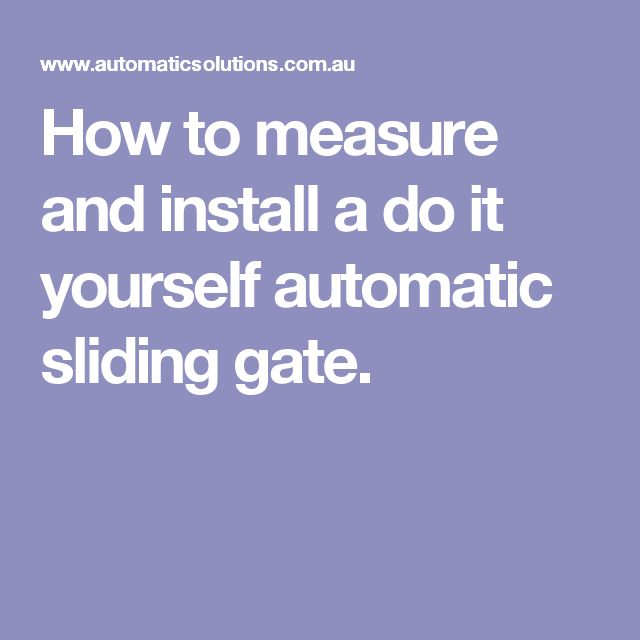 Best 25 Sliding Gate Motor Ideas On Pinterest Electric