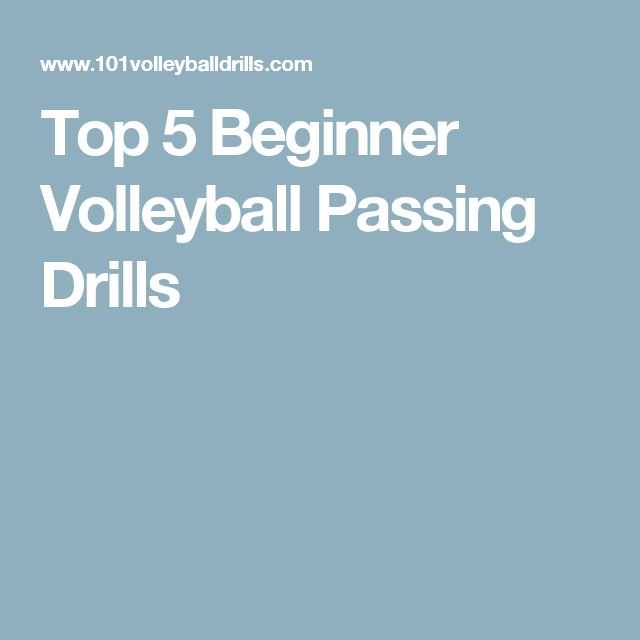 Top 5 Beginner Volleyball Passing Drills