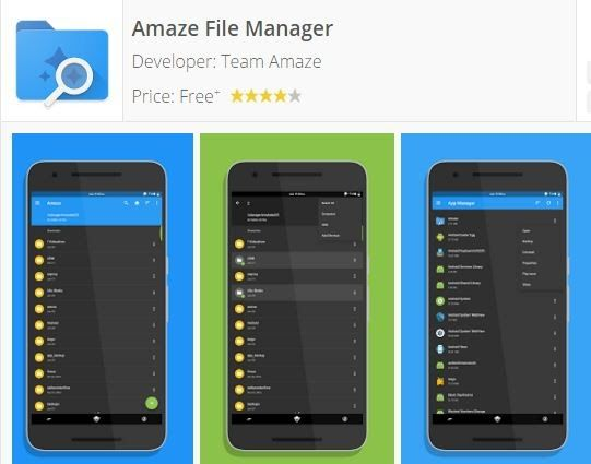 Amaze File Manager Material design fast and smooth. Overview:  Open Source light and smooth  Based on Material Design guidelines  Basic features like cut copy delete compress extract etc. easily accessible  Work on multiple tabs at same time  Multiple themes with cool icons  Navigation drawer for quick navigation  App Manager to open backup or directly uninstall any app  Quickly access history access bookmarks or search for any file  Root explorer for advanced users  All features freely…