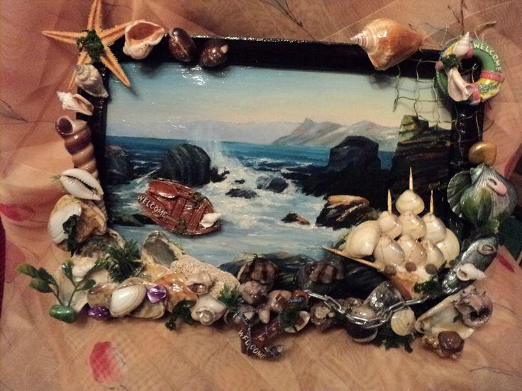Картина море своими руками