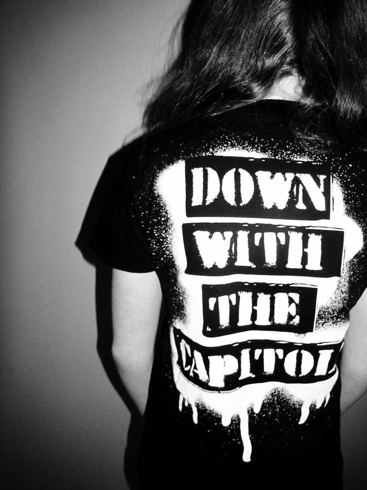 Down with the Capitol - DIY Hunger Games Shirt