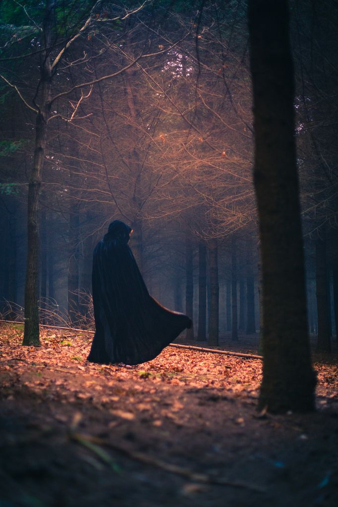 """""""She walked quickly through the darkness with the frank stride of someone who was at least certain that the forest, on this damp and windy night, contained strange and terrible things, and she was it."""" ― Terry Pratchett, Wyrd Sisters.Photo by Pablo Castro Fernández"""
