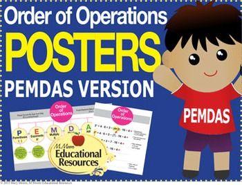 Mejores 16 imágenes de Order of Operations - PEMDAS, BODMAS, BEDMAS ...