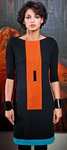 free download pattern: Colour-Blocking Dress