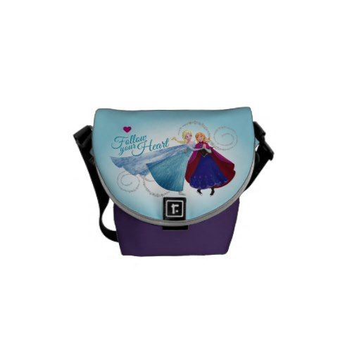 Follow Your Heart Courier Bags  Princess  Elsa and Anna Products from Disney Frozen  https://www.artdecoportrait.com/product/follow-your-heart-courier-bags/  #frozen #disney #Elsa #Anna #SnowQueen #disneyprincess #gift #birthday #princess   More cool Disney Princess Gifts Ideas at www.artdecoportrait.com/shop