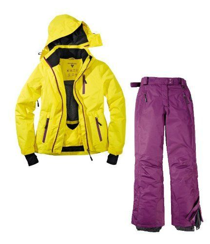 #Skianzug 2tlg. Funktioneller Skianzug Für Damen Gr. 42 M-4 Farbe. Gelb-Violett Schneeanzug, 00764130926165