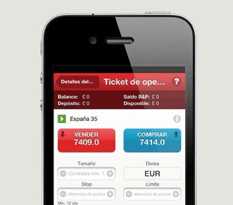 Vea los tickets de operación en su iPhone de la misma forma que los puede ver en la pantalla de un ordenador.   Opere CFDs de una forma sencilla desde su iPhone con la aplicación de IG.   Sólo tiene que buscar IG en el App Store.