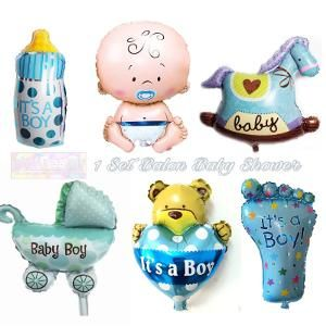 Jual Beli Balon Foil Baby Shower 1 set tema baby boy atau dekorasi pesta karakter dot botol kaki beruang cinta kereta bayi laki by ghofuraa shop Baru | Peralatan Kebutuhan Bayi Lainnya |  Bukalapak
