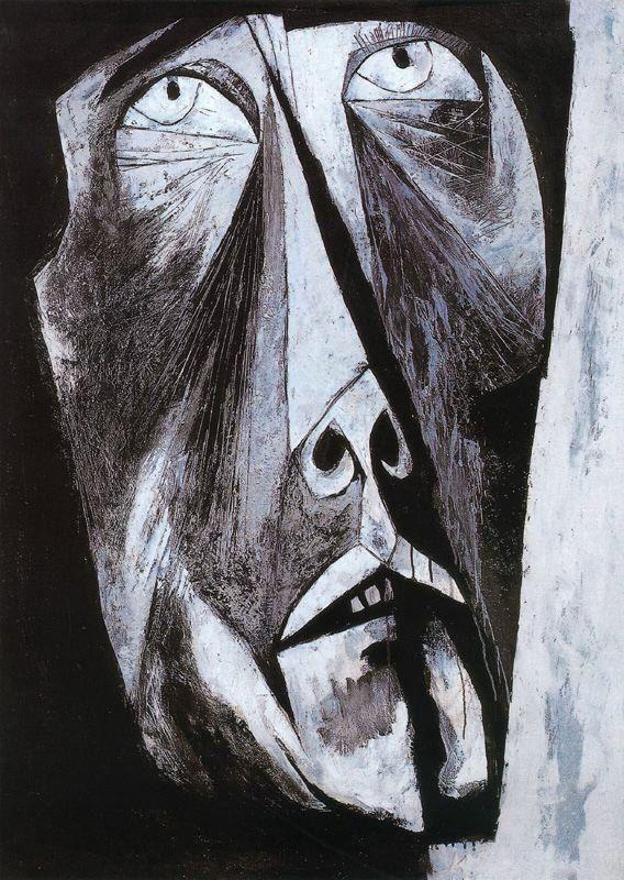 Llanto. 1963-65. Óleo sobre tela. 135 x 95 cm. El Rostro de Hombre. La Edad de la Ira. Colección Pablo Guayasamín. Quito. Ecuador