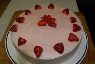 Jordbæriskake #cake #strawberries