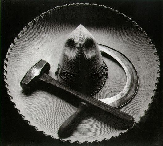 Tina Modotti, Mexican Sombrero with Hammer and Sickle, 1927. Courtesy Fotocommunity.