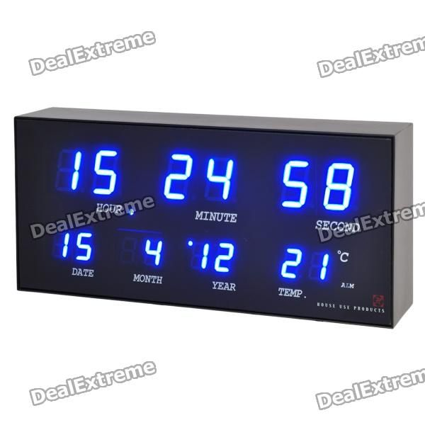 Color: Black - Plastic case material - 1.0inch/0.5inch LED display - Features: clock (12/24h) / calendar / alarm clock / temperature (-9 ~ 59'C) - Comes with AC 100~240V power adapter (2-flat-pin plug / 300cm cable) & Japanese manual http://j.mp/1ljOWMf