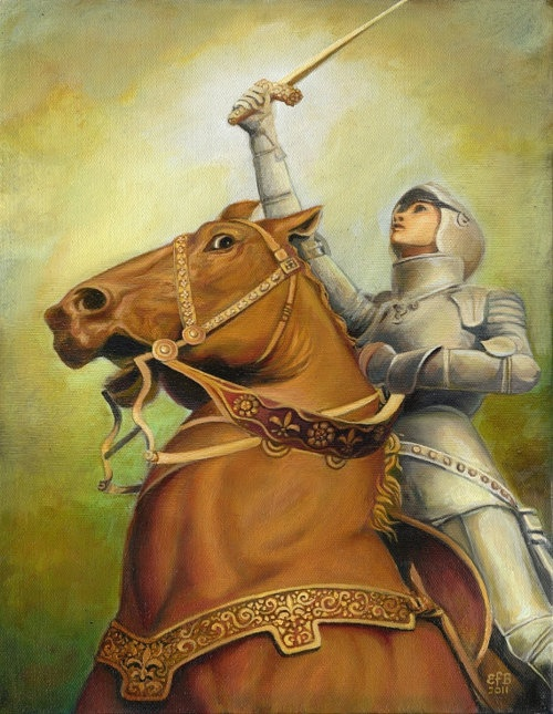 """Joan of Arc—The Maid of Orléans~~""""As musket balls and canon balls flew, and the 15th Century French Army prepared to retreat before the dominance of the English,the visionary Joan of Arc prepared to scale the enemy's wall with a shield of faith and her sacred sword.An officer bellowed out,""""Don't go over the wall.No one will follow you!""""The teenage peasant girl, strengthened by her faith in a mighty God,replied,""""I'm not going to be looking to see if anyone is following me.I'm going over the…"""