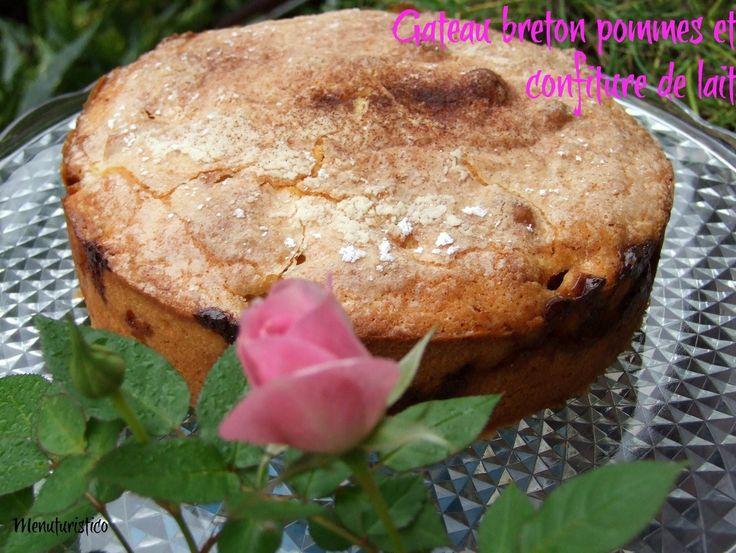 Cartolina da Poit de Saint Mathieu (Bretagna) e il Gateau breton pommes et confiture de lait (Torta Bretone di mele e dulche de leche)