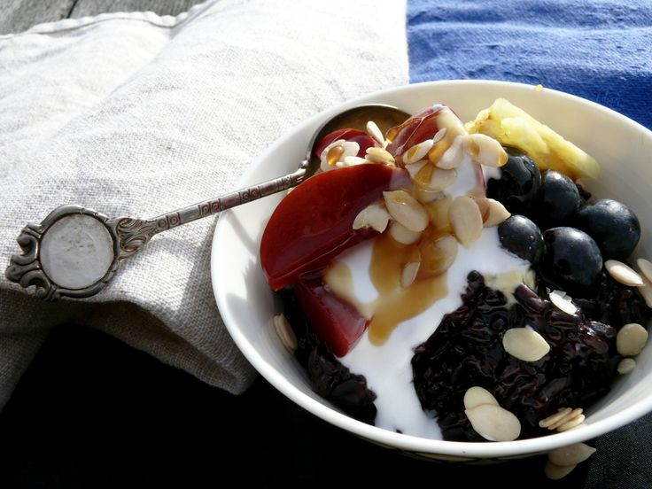 Easy and Delicious Black Rice and Coconut Breakfast