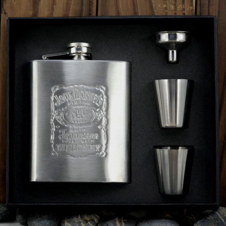 7 Oz Liquor Stainless Steel Jack Daniels Hip Flask SHOTS