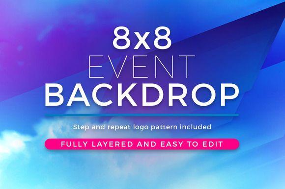 28 best step and repeat event backdrop templates images on pinterest backdrops backgrounds. Black Bedroom Furniture Sets. Home Design Ideas