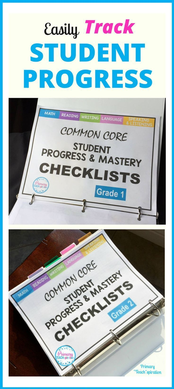 Easily organize and track math and ELA student progress for 1st & 2nd grade Common Core standards. Read about how to use it and get the FREE whole-class math checklist