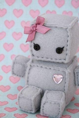 Cute as, robot plushie.