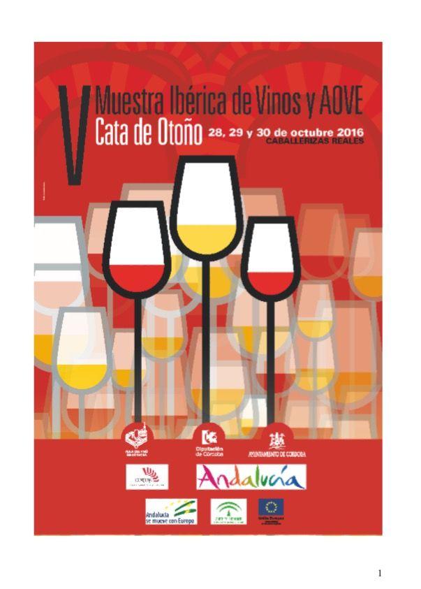 Estaremos del 28 al 30 exponiendo #LivesOlives por segunda vez en la   V MUESTRA IBÉRICA DE VINOS  Y  AOVE 2016 - PREMIOS MEZQUITA  Caballerizas Reales Córdoba
