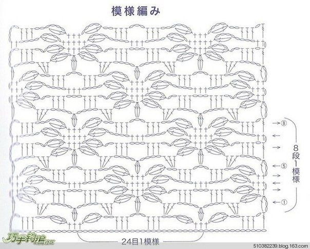 Crochet flower stitch mohair chart.. Discussione sulla