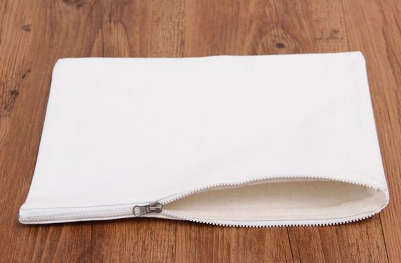 10 Lot DIY Blank Canvas Zipper Makeup Bags Custom Purse Phone Pouch Pencil Cases #Unbranded #Wedding