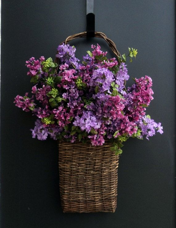 Basket of Lilacs by MelanieLeeDesign on Etsy - pretty on front door & 18 best Front Door Baskets images on Pinterest | Front doors ...