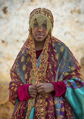 Miss Fayo in Harari traditional clothes for a celebration, Harar, Ethiopia | Flickr - Fotosharing!