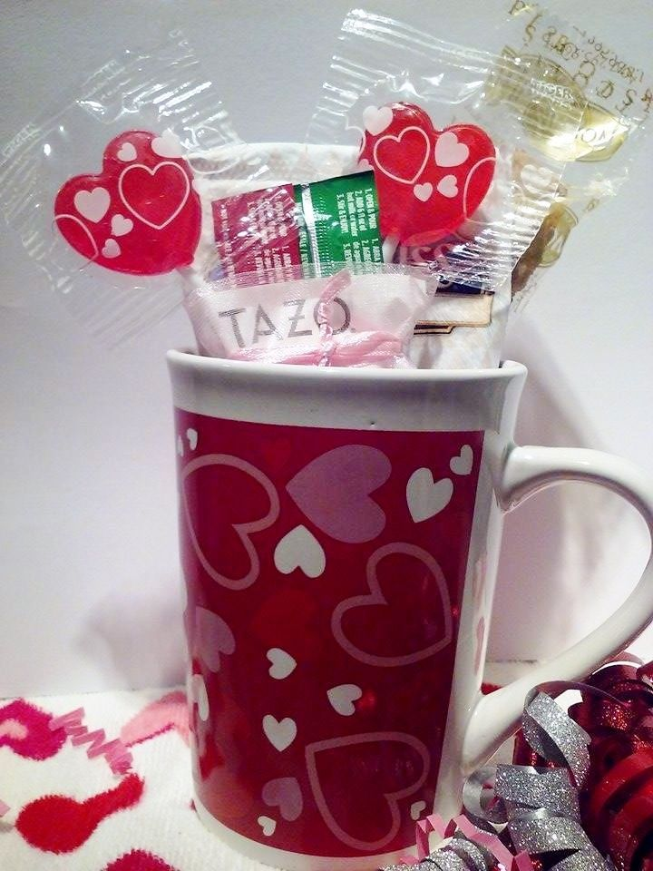 Valentine's Day 15oz. Mug/Cup coffee/TazoTea Gift Kit!! Perfect Gift! All in one