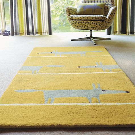 This quirky rug features a friendly fox character and will be loved by children and adults alike.