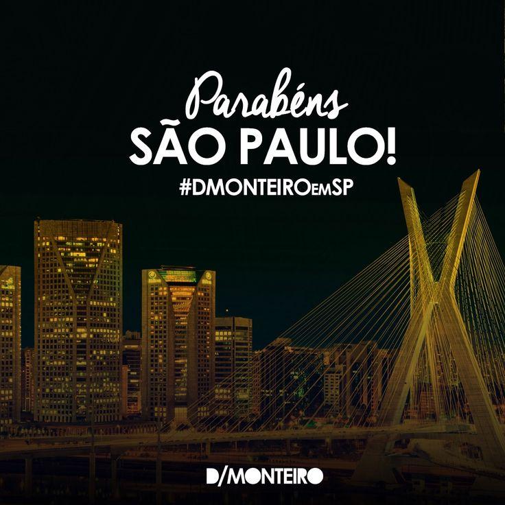 É um prazer para a D/MONTEIRO fazer parte dessa história! #ParabénsSãoPaulo, 463 anos! #DMONTEIROemSP #Sampa
