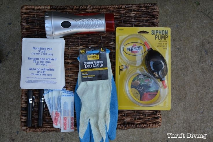 How to Make the Cutest DIY Emergency Car Kit Thrifting