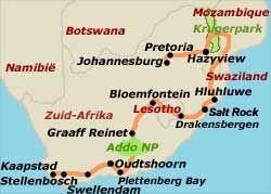 26-daagse rondreis Zuid Afrika