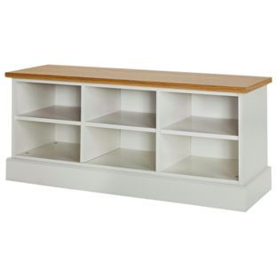 Buy Winchester Low Hallway Unit Soft White - Oak Effect at Argos.co.uk - Your Online Shop for Bookcases and shelving units.
