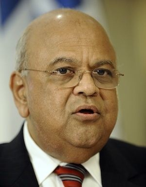 NEW INITIATIVES : Finance Minister Pravin Gordhan speaks to the media with World Bank newly-appointed President in Pretoria. The World Bank is funding a programme to boost Eskom's capacity and fund solar and wind plants. (AFP)