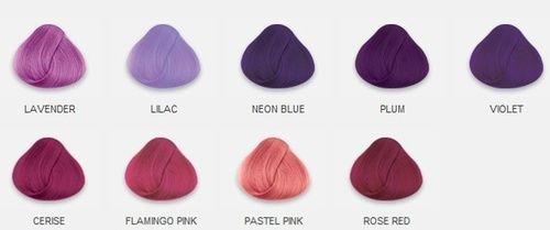 Hair chart- purple and pink hair | Hair color chart, Hair ...