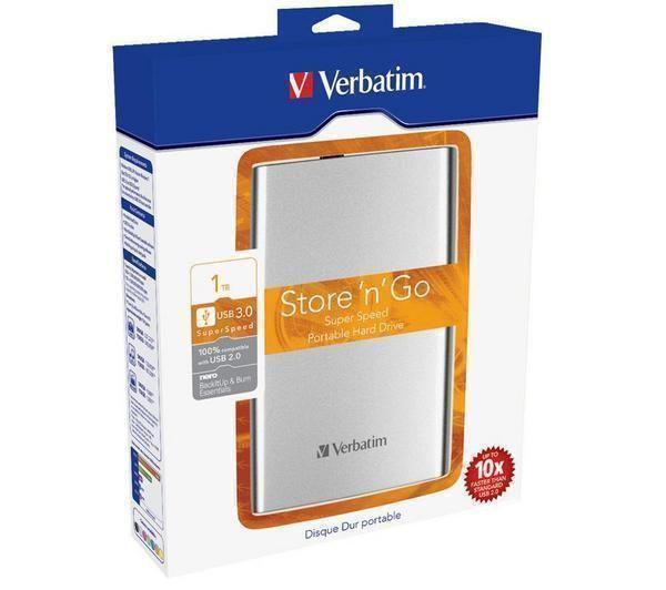 VERBATIM Bærbar ekstern harddisk Store 'n' Go - 1TB, sølv fra Pixmania. Om denne nettbutikken: http://nettbutikknytt.no/pixmania/