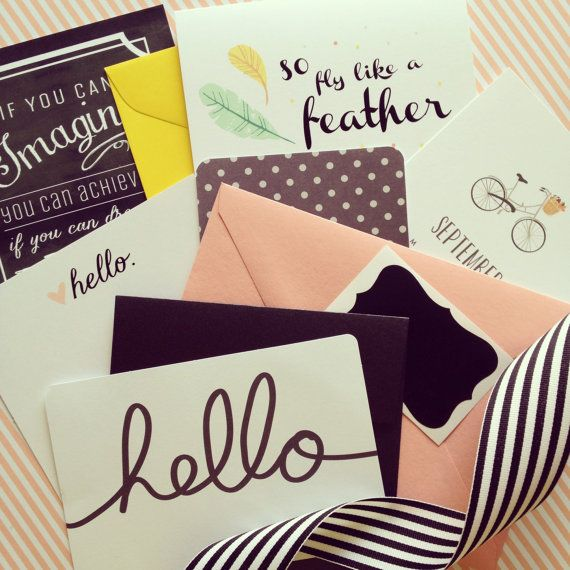 GINGER MAIL Subscription  greeting cards and stationery items mailed to you every 6 weeks/$15