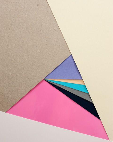 triangle multi-colorful minimalism