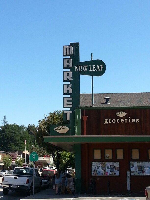 New Leaf Market and downtown, Boulder Creek, CA