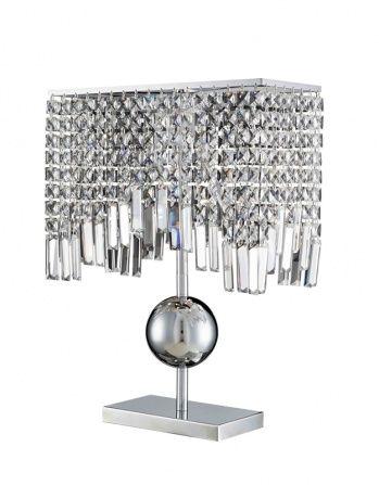 6 light clear crystal table lamp