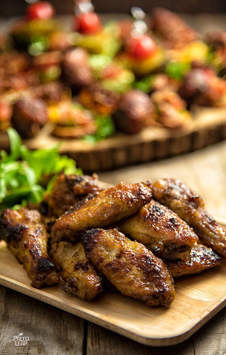 Jerk-Style Chicken Wings. Sweet and spicy chicken wings with a tropical flavor.
